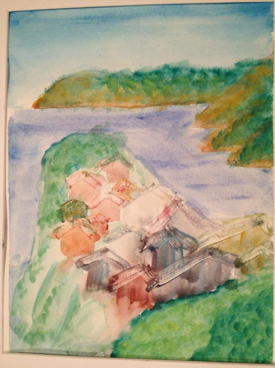 Bekah- Cinque Terre 1 watercolor