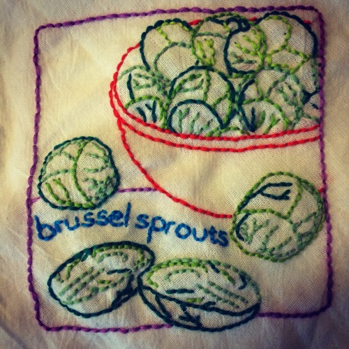 Brussel Sprout Embroidery